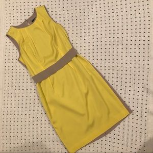 Ann Taylor yellow and grey dress 2P